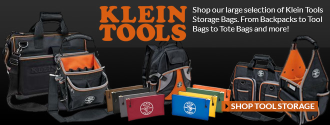 Klein Tools Storage Bags at Main Electric Supply!
