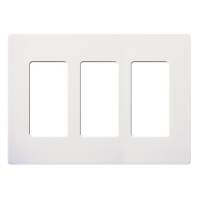 CLARO WALLPLATE 3 GNG WH