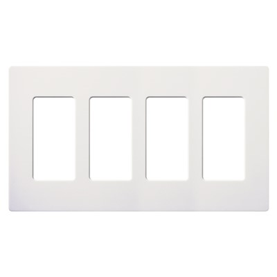 CLARO WALLPLATE 4 GNG WH